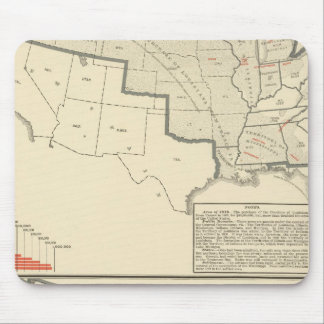 United States Two color lithographed maps Mouse Pad