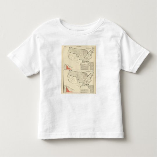 United States Two color lithographed maps Toddler T-shirt
