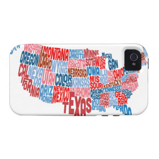 United States Typography Text Map Case-Mate iPhone 4 Case