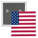United States, United Arab Emirates flag Pinback Button