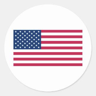 United States US Classic Round Sticker