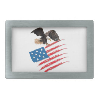 United States US Flag Rectangular Belt Buckle