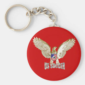 United States US soccer Eagle soccer artwork Keychain