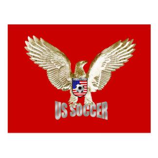 United States US soccer Eagle soccer artwork Postcard