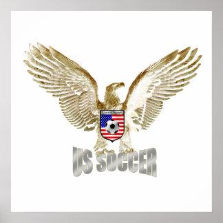 United States US soccer Eagle soccer artwork Poster