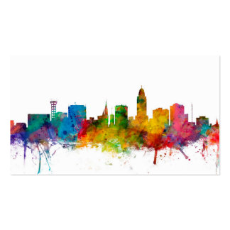 """united states"", usa, ""city skyline"", watercolour, Double-Sided standard business cards (Pack of 100)"