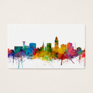 """united states"", usa, ""city skyline"", watercolour, business card"