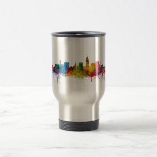"""united states"", usa, ""city skyline"", watercolour, stainless steel travel mug"
