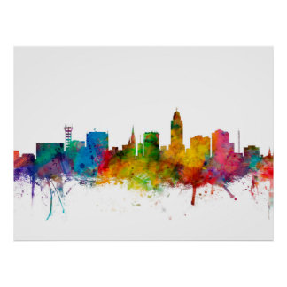 """united states"", usa, ""city skyline"", watercolour, poster"
