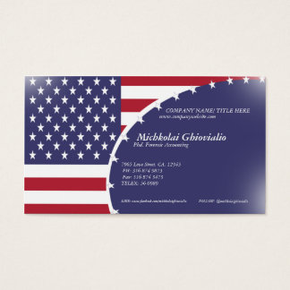 United States USA Flag Business Card