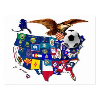 United States USA Soccer Eagle Postcard