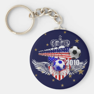 United States USA Soccer Stars and Stripes Keychains