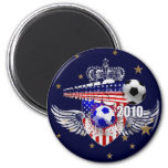 United States USA Soccer Stars and Stripes Refrigerator Magnets