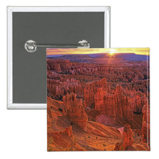 United States, Utah, Bryce Canyon National Park. Pinback Button