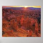United States, Utah, Bryce Canyon National Park. Poster