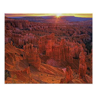United States, Utah, Bryce Canyon National Park. Poster