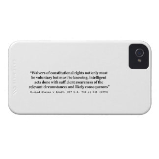 United States v Brady 397 US 742 at 748 1970 iPhone 4 Case-Mate Cases