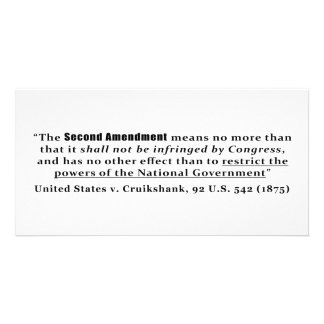United States v. Cruikshank, 92 U.S. 542 (1875) Card