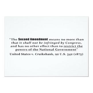 United States v. Cruikshank, 92 U.S. 542 (1875) Invitations