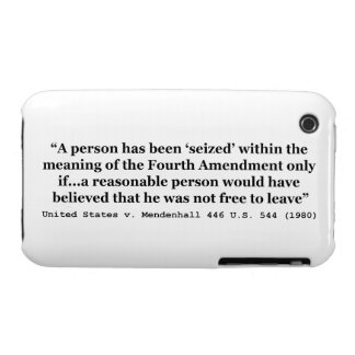 United States v Mendenhall 446 US 544 1980 iPhone 3 Case-Mate Case