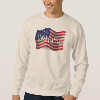 United States Veteran Waving Flag Sweatshirt