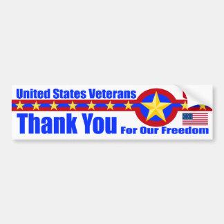 United States Veterans Bumper Sticker