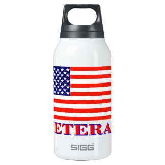 United States Veterans Flag 10 Oz Insulated SIGG Thermos Water Bottle
