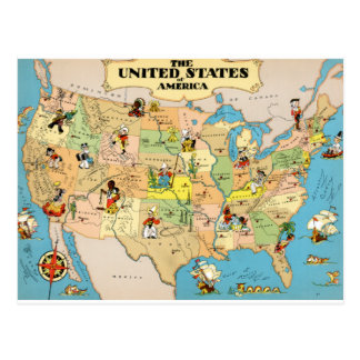 Funny Usa Map Cards Greeting Photo Cards Zazzle - Funny maps of the us