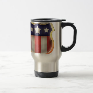 United States Vintage Shield Travel Mug