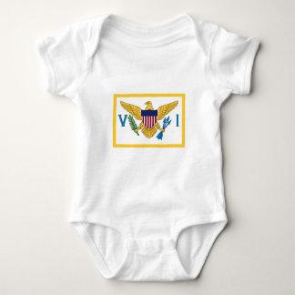 United States Virgin Islands Flag Baby Bodysuit