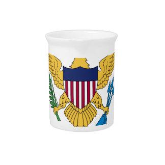 United States Virgin Islands Flag Beverage Pitcher