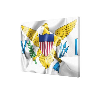 USA Themed United States Virgin Islands Flag Canvas Print