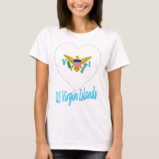 United States Virgin Islands Flag Heart T-Shirt
