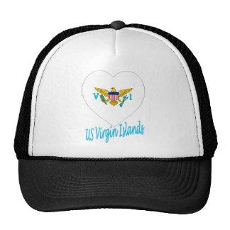United States Virgin Islands Flag Heart Trucker Hat