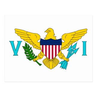 United States Virgin Islands Flag Post Card