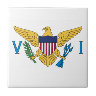 United States Virgin Islands Flag Small Square Tile