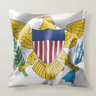 USA Themed United States Virgin Islands Flag Throw Pillow