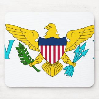United States Virgin Islands, United States flag Mouse Pads