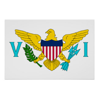 United States Virgin Islands, United States flag Poster