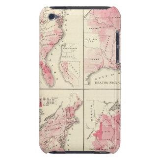 United States vitality maps iPod Case-Mate Cases