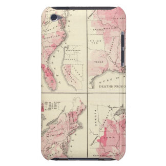 United States vitality maps iPod Case-Mate Cases