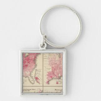 United States vitality maps Keychain