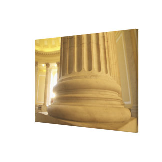 United States, Washington, D.C. A Pillar in the Stretched Canvas Print