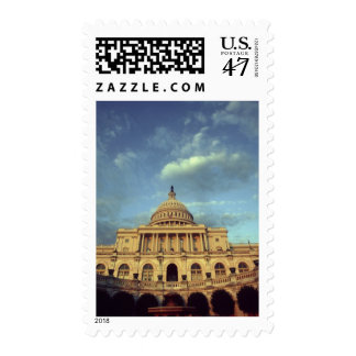 United States, Washington, D.C. U.S. Capitol at Postage Stamp