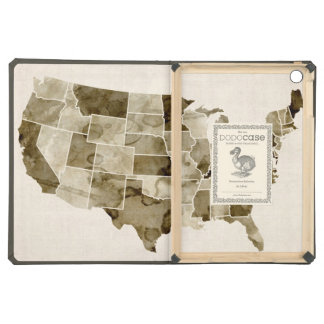 United States Watercolor Map Case For iPad Air