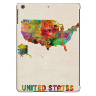 United States Watercolor Map iPad Air Cover