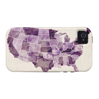 United States Watercolor Map Vibe iPhone 4 Cases