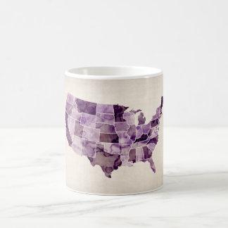 United States Watercolor Map Coffee Mug