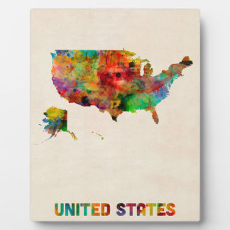 United States Watercolor Map Display Plaque