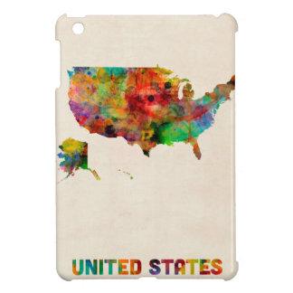 United States Watercolor Map iPad Mini Case